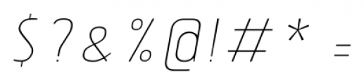Tolyer No.3 Thin Italic Font OTHER CHARS
