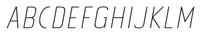 Tolyer No.3 Thin Italic Font UPPERCASE
