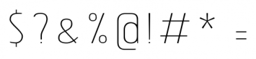 Tolyer No.3 Thin Font OTHER CHARS