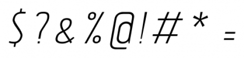 Tolyer No.4 Light Italic Font OTHER CHARS