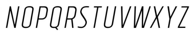 Tolyer No.4 Light Italic Font LOWERCASE