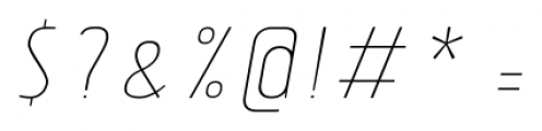 Tolyer No.4 Thin Italic Font OTHER CHARS