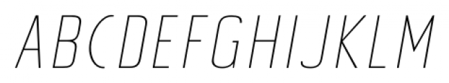 Tolyer No.4 Thin Italic Font LOWERCASE