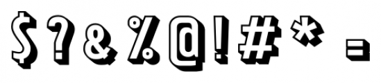 Tolyer X 3D Font OTHER CHARS