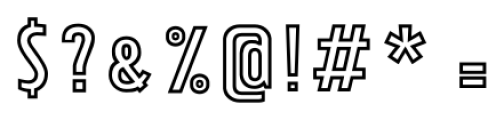 Tolyer X Outline Font OTHER CHARS