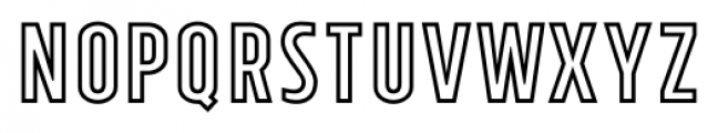 Tolyer X Outline Font LOWERCASE