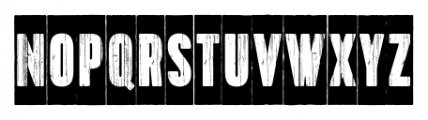 Toppo Negative Font UPPERCASE