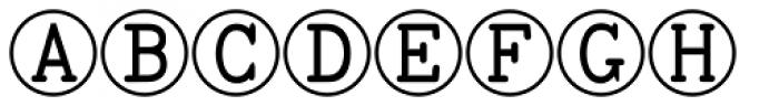 TOCin Rings Font UPPERCASE