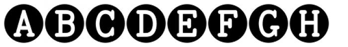 TOCin Rings Font LOWERCASE