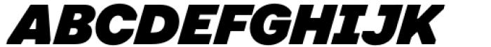 Toboggan Black Italic Font UPPERCASE