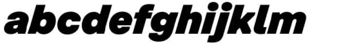 Toboggan Black Italic Font LOWERCASE