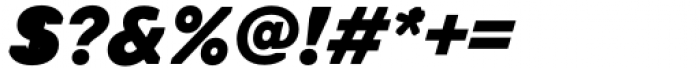 Toboggan Heavy Italic Font OTHER CHARS
