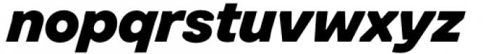 Toboggan Heavy Italic Font LOWERCASE