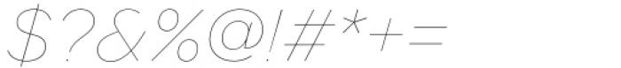 Toboggan Thin Italic Font OTHER CHARS