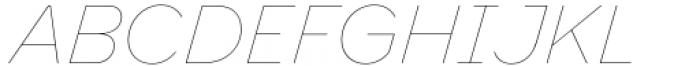 Toboggan Thin Italic Font UPPERCASE
