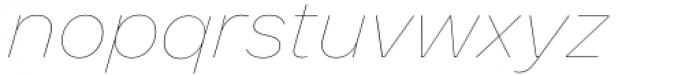 Toboggan Thin Italic Font LOWERCASE