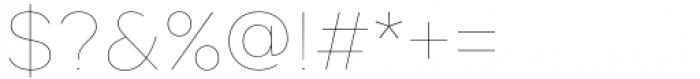 Toboggan Thin Font OTHER CHARS