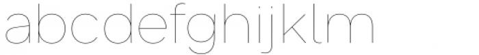 Toboggan Thin Font LOWERCASE