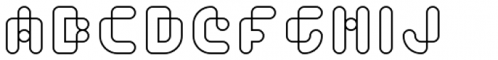 Toews Outlined Font UPPERCASE