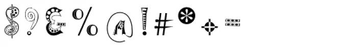 Tokay EF Regular Font OTHER CHARS