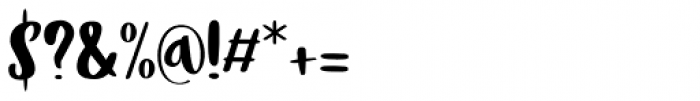 Tokeh Regular Font OTHER CHARS