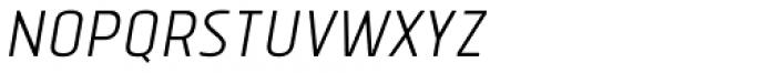 Tolyer No.1 Light Italic Font UPPERCASE