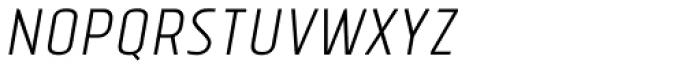 Tolyer No.2 Light Italic Font UPPERCASE