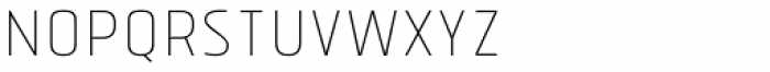 Tolyer Thin No.1 Font LOWERCASE