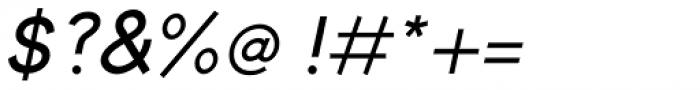 Toma Sans Semi Bold Italic Font OTHER CHARS