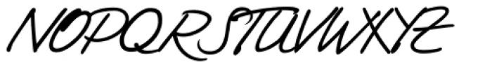 Tommi Handwriting Font UPPERCASE