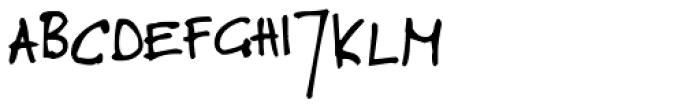 Toms Handwritten Font UPPERCASE