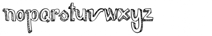 Too Sweet To Eat Outline Font LOWERCASE