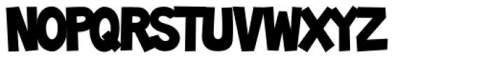 Toonish Font UPPERCASE
