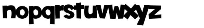 Toonish Font LOWERCASE