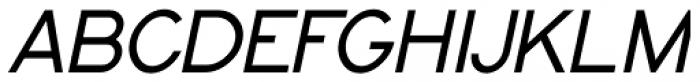 Topographic Sans Oblique JNL Font UPPERCASE