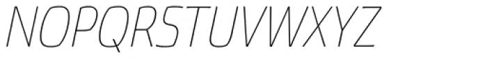 Torcao Cond Thin Italic Font UPPERCASE