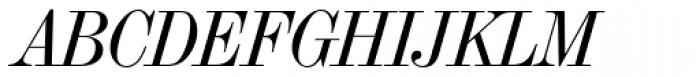 Torino Modern Italic Font UPPERCASE