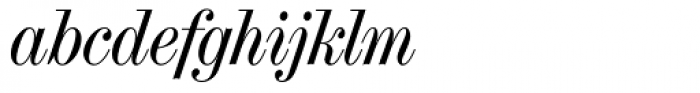 Torino Modern Italic Font LOWERCASE
