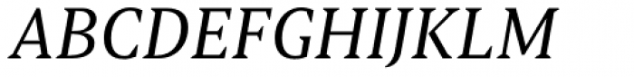Torrent Italic Font UPPERCASE