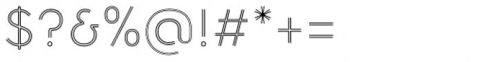 Torus Biline Light Font OTHER CHARS