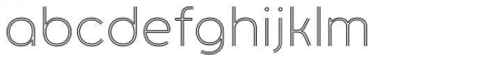 Torus Biline Light Font LOWERCASE