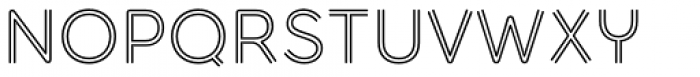 Torus Biline Regular Font UPPERCASE