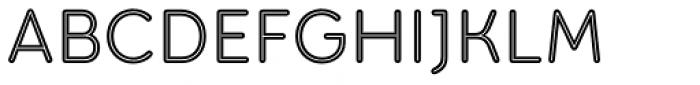 Torus Inline Regular Font UPPERCASE