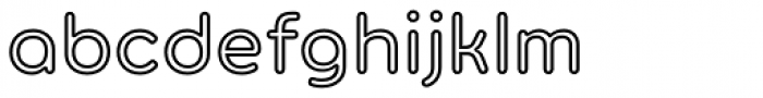 Torus Outline Semi Bold Font LOWERCASE