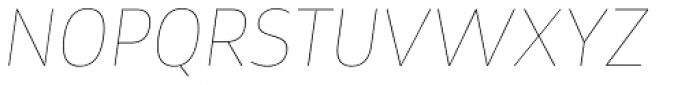Tosia Hairline Italic Font UPPERCASE