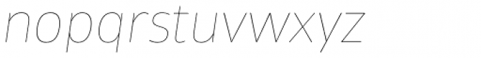 Tosia Hairline Italic Font LOWERCASE