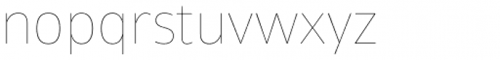 Tosia Hairline Font LOWERCASE