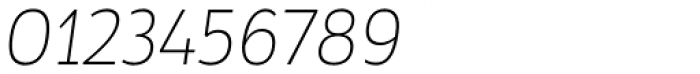 Tosia Thin Italic Font OTHER CHARS