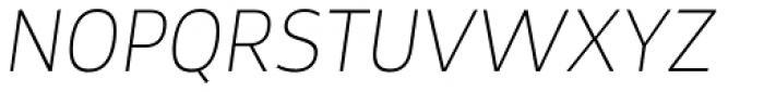 Tosia Thin Italic Font UPPERCASE
