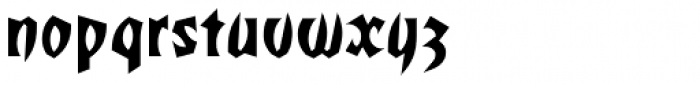 Totally Gothic Font LOWERCASE